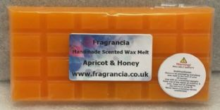 85 gram Highly Scented Wax Melt bar (APRICOT & HONEY)